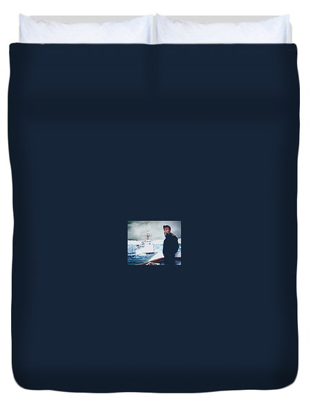 Capt Derek Law Duvet Cover by Tim Johnson