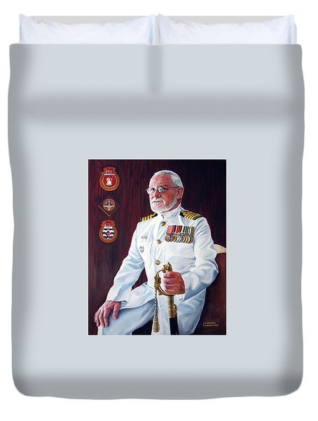 Capt John Lamont Duvet Cover by Tim Johnson