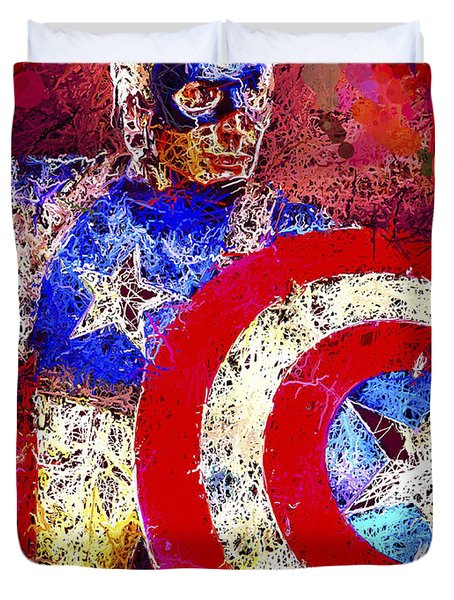 Captain America Duvet Cover