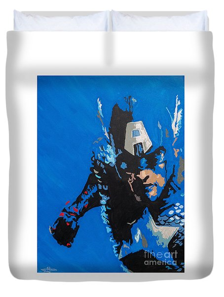 Captain America - Out Of The Blue  Duvet Cover by Kelly Hartman