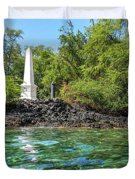 Captain Cook Monument Duvet Cover