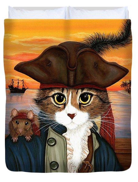 Captain Leo - Pirate Cat And Rat Duvet Cover