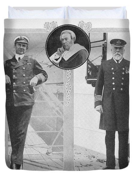 Captain Rostron Captain Of Carpathia Duvet Cover