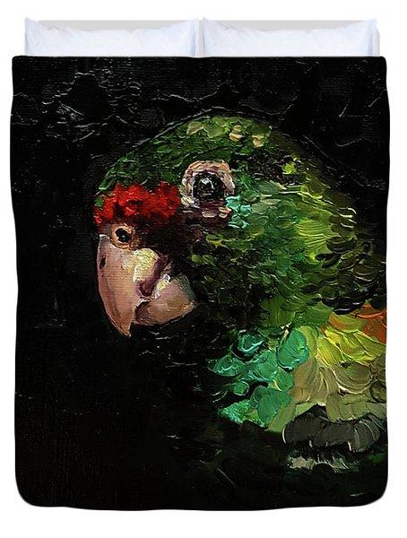 Captain The Parrot Duvet Cover
