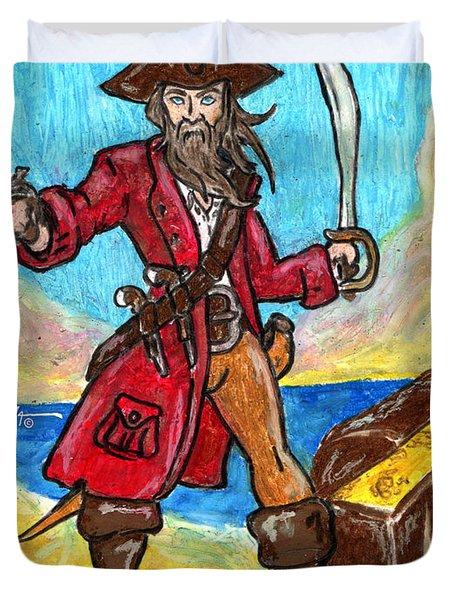 Captain's Treasure Duvet Cover by William Depaula