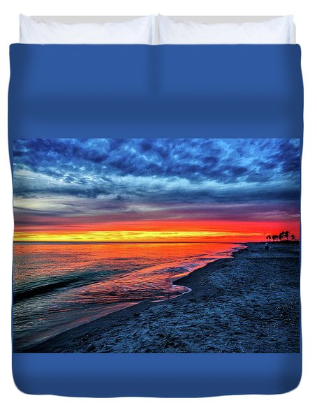 Captiva Island Sunset Duvet Cover