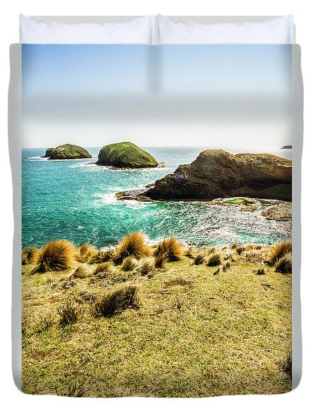 Captivating Coastal Cliff Duvet Cover