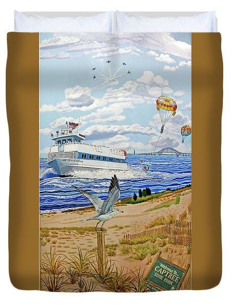 Captree Park Towel Version Duvet Cover