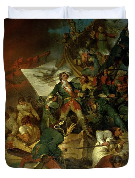 Capture Of Azov Duvet Cover by Sir Robert Kerr Porter