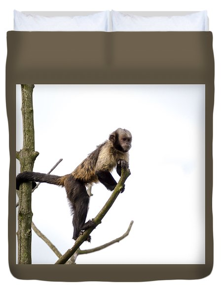 Duvet Cover featuring the photograph Capuchin Monkey by Scott Lyons