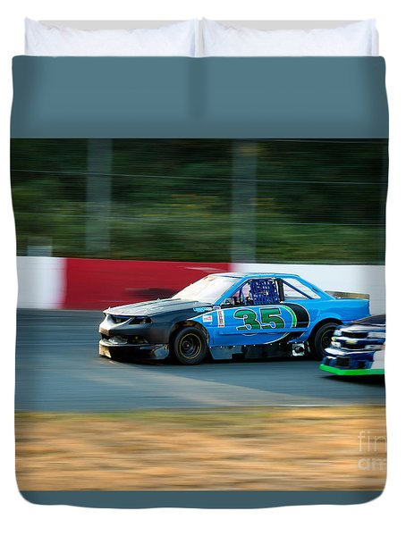 Car 35 Passing 26 Duvet Cover