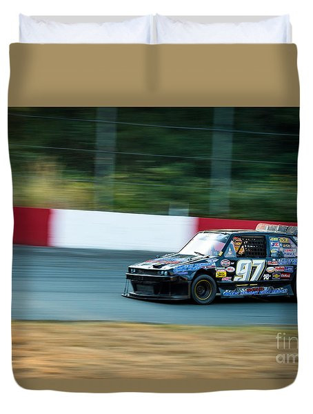 Car 97 Rounds The Corner Duvet Cover