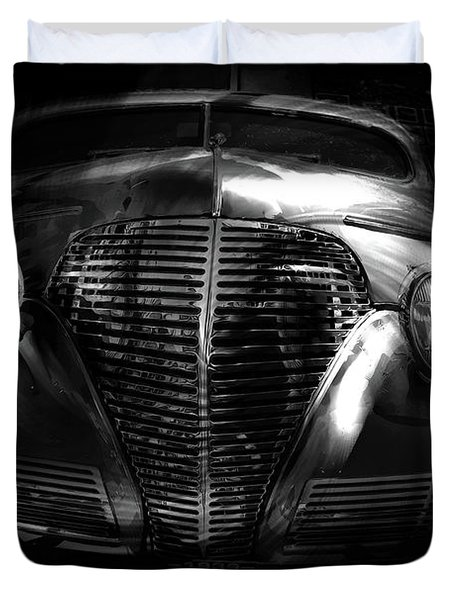 Car Art 1939 In A Bubble Bw Duvet Cover