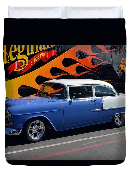 Car Crazy 55 Duvet Cover by Bill Dutting