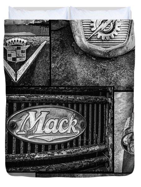 Car Emblems Duvet Cover