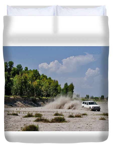 Car Rally Duvet Cover
