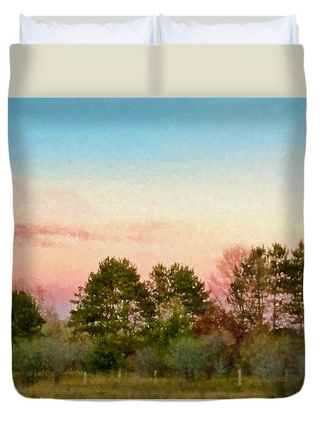 Duvet Cover featuring the photograph Car Scenery by Susan Crossman Buscho
