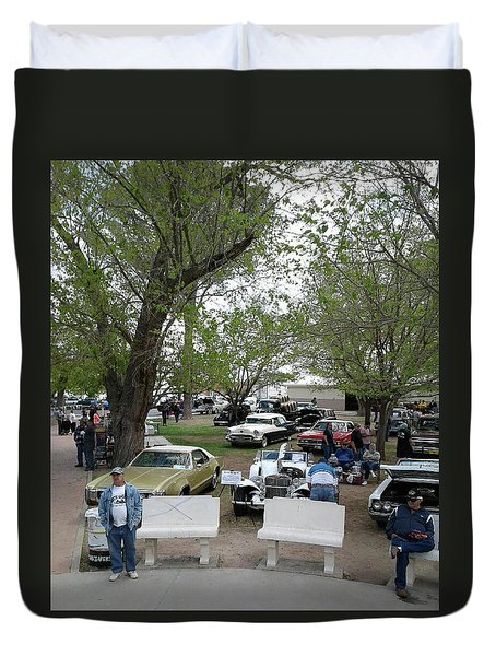 Car Show In Deming N M Duvet Cover by Jack Pumphrey