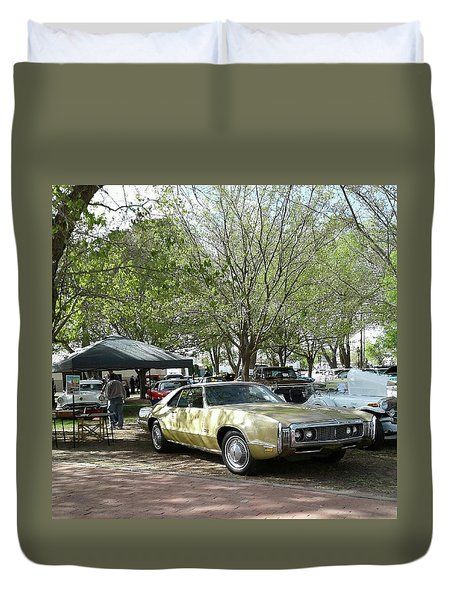 Duvet Cover featuring the pyrography Car Show Saturday by Jack Pumphrey