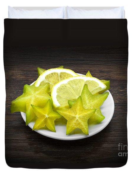 Carambola And Lemon Duvet Cover