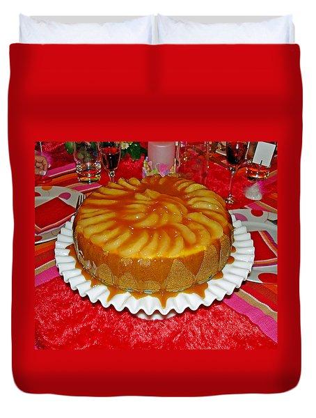 Caramel Apple Cheesecake Valentine Duvet Cover