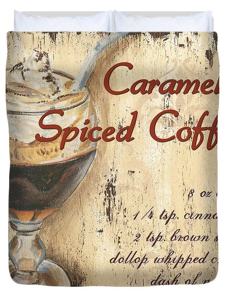 Caramel Spiced Coffee Duvet Cover