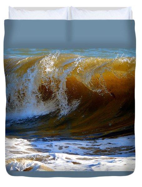 Caramel Swirl Duvet Cover by Dianne Cowen