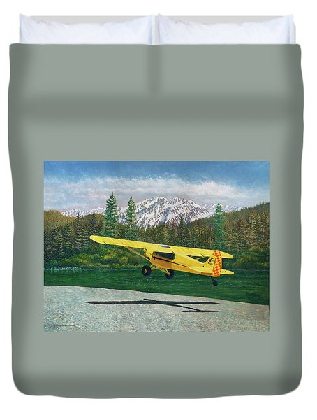 Carbon Cub Riverbank Takeoff Duvet Cover