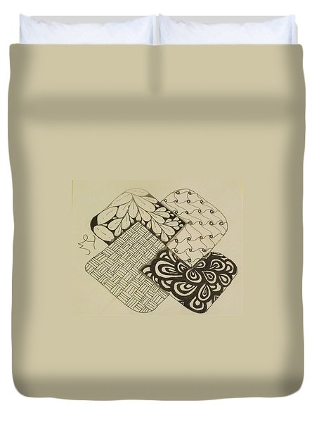 Card Trick Duvet Cover