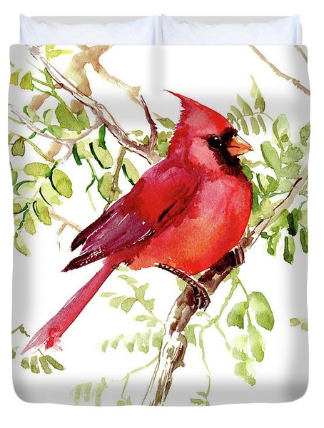 Cardinal Bird Duvet Cover