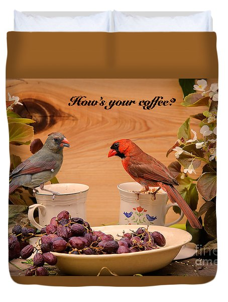 Cardinal Coffee Duvet Cover