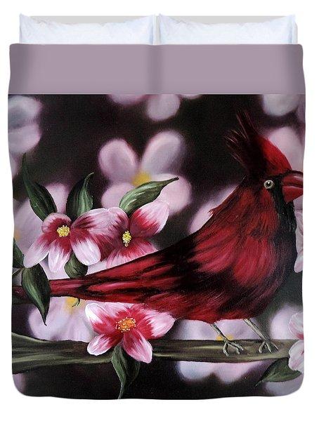 Cardinal Duvet Cover by Dianna Lewis