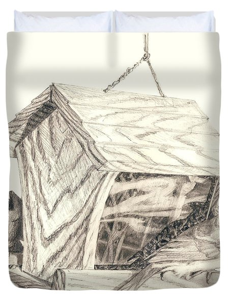 Cardinal Feeder Duvet Cover