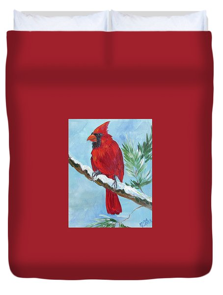 Cardinal  Duvet Cover by Gloria Turner