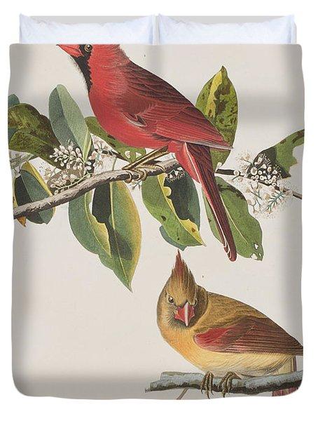 Cardinal Grosbeak Duvet Cover