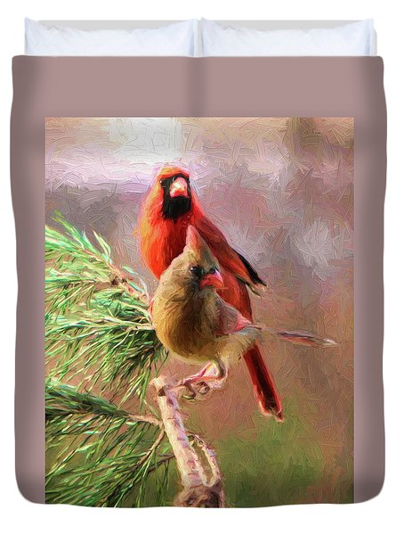 Cardinals2 Duvet Cover