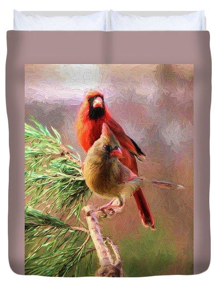 Cardinals2 Duvet Cover