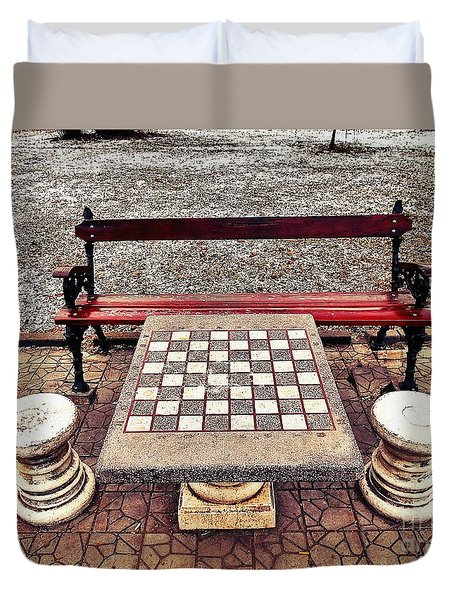 Care For A Game Of Chess? Duvet Cover