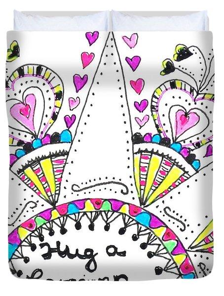 Caregiver Crown Of Hearts Duvet Cover