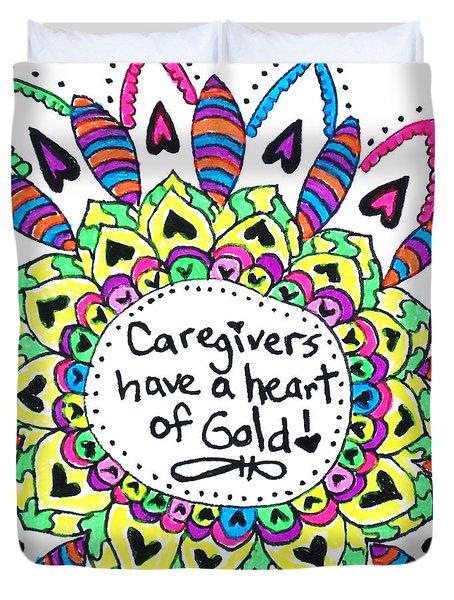 Caregiver Flower Duvet Cover