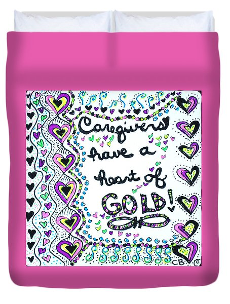 Caregiver Joy Duvet Cover