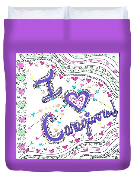Caring Heart Duvet Cover