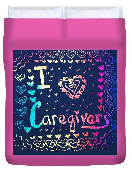 Caregiver Rainbow Duvet Cover