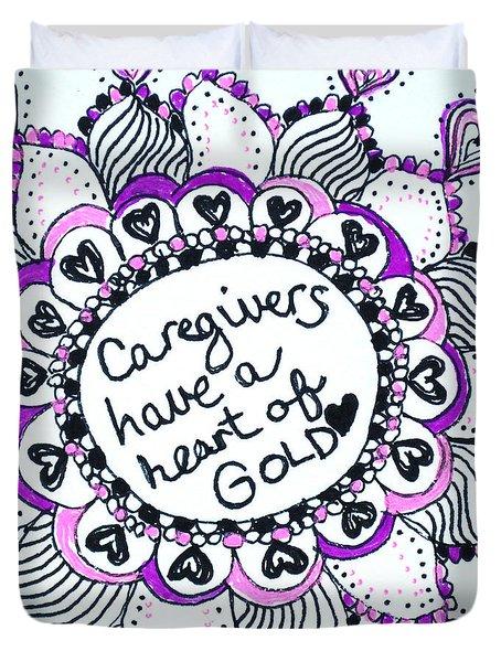 Caregiver Sun Duvet Cover