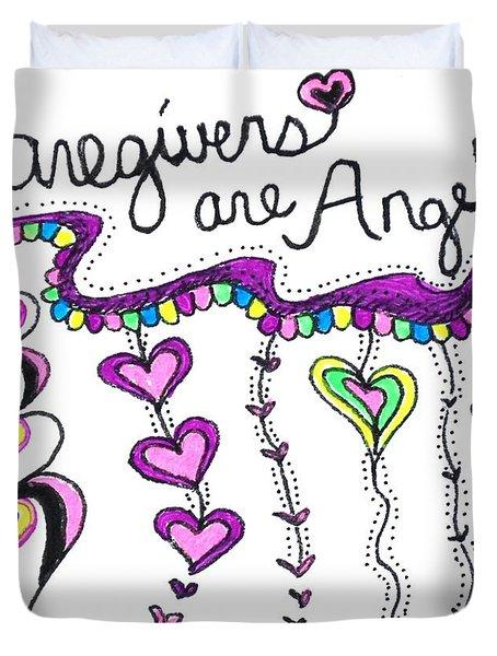 Caregiver Chime Duvet Cover
