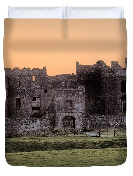 Carew Castle Coral Sunset Duvet Cover