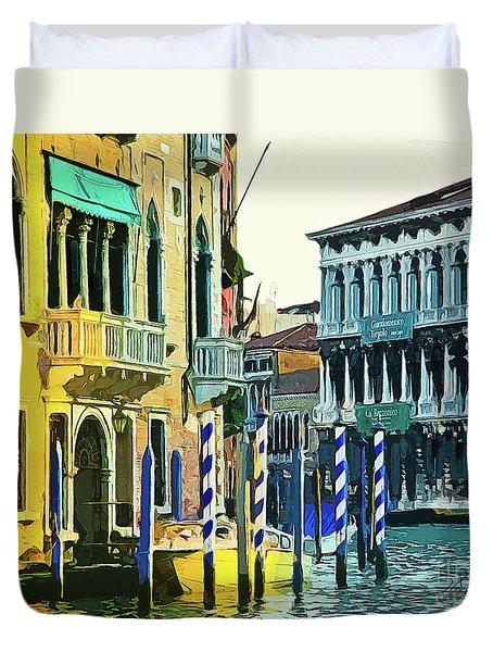 Ca'rezzonico Museum Duvet Cover by Tom Cameron