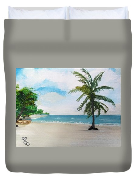 Caribbean Beach Duvet Cover