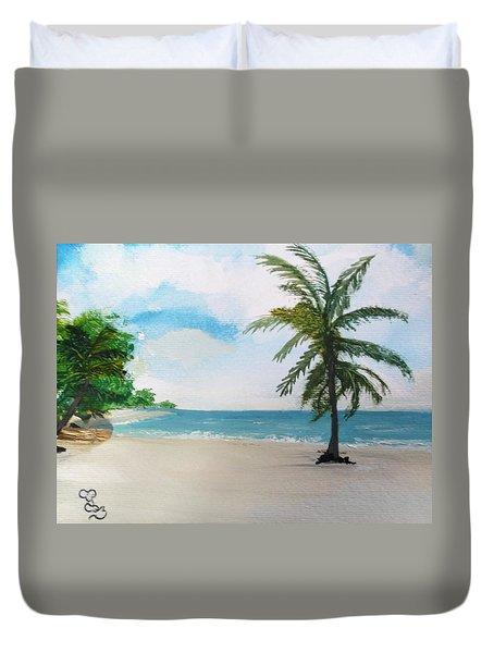 Caribbean Beach Duvet Cover