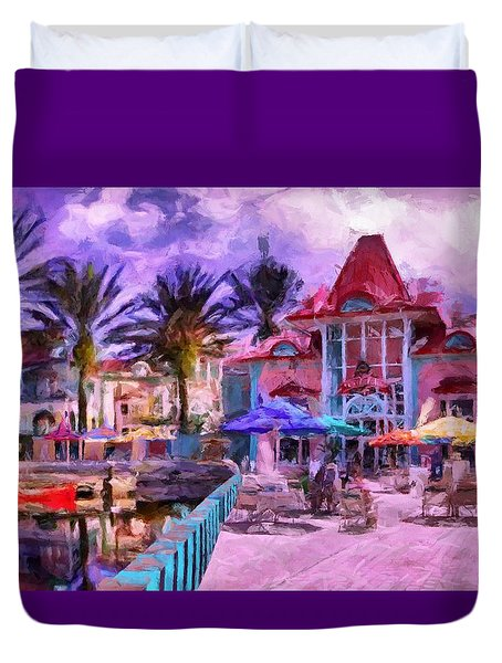 Caribbean Beach Resort Duvet Cover